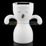 Smile Face Pattern LED Solar Energy Night Lamp
