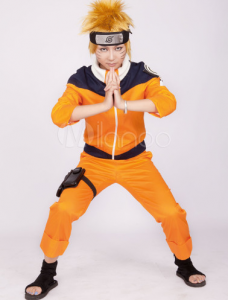 Anime Cosplay Costume - Yellow Deep Blue Naruto Uzumaki Naruto Cosplay Costume_Milanoo