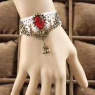 Luxury Faux Diamond Hollow White Bracelets with Pendant