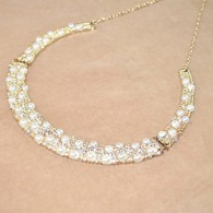 Princess Style Faux Pearl Decoration Round Necklace for Bride