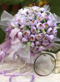 Pretty Silk Cloth Bridal Bouquets