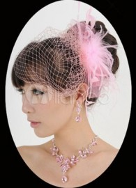 Sweet Pink Alloy Rhinestone Silver Plating Special Occasion Jewelry Set