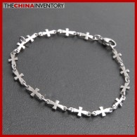 Stainless Steel Cross Chain Bracelet
