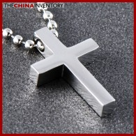 Stainless Steel Small Cross Pendant Necklace