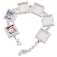 Nickle color Photo Frame bracelet