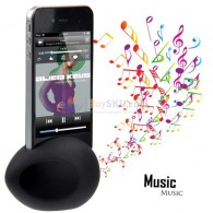 Cute Egg Shaped Silicone Stand Magic Audio Amplifier Speaker for iPhone 4 and iPhone 4S