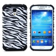 2-in-1 Zebra-Stripe Style Protective Plastic + TPU Case for Samsung Galaxy S4