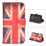 Protective UK Flag Pattern PU Leather Case for Samsung Galaxy S3 Mini