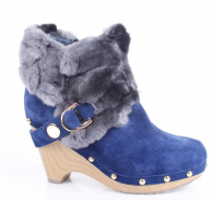 Luxury rabbit fur boots snow for women