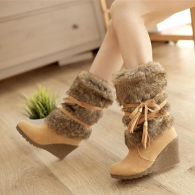 Fall and winter new wedge boots