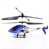 S04-1 Blue 2.5CH Metal RC Remote Radio Control Heli 2D Gyro Helicopter RTF Gift