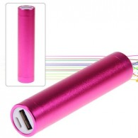 2600mAh Aluminum Alloy Tube Cylindrical Mobile Power for iPhone 4,4s,iPad