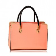 Casual Candy Color Weaving and Metal Design Women's Shoulder Bag