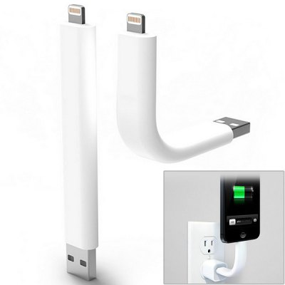 12cm Cool Bendable Stand Design Lightning 8 Pin USB Data Sync Charging Cable for iPhone 5