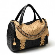 Office Color Matching and Metallic Chain Design Women's Tote Bag