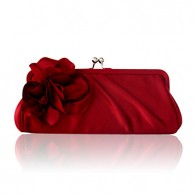 Satin Shell With Flower Evening Handbags