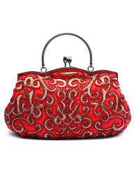 Classical Red Embroidery Wedding Handbag