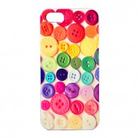 Joyland ABS Colorful Buttons Pattern Back Case for iPhone 5 and 5S