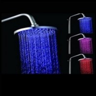 Illuminated LED Colors Changing Bathroom Shower Head