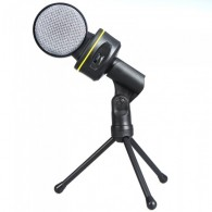 Wired Condenser Microphone Mic with Tripod for PC Laptop Computer