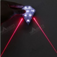 Laser Lights USB Rechargeable White Light Bicycle Laser Tail Light
