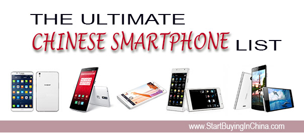 Ultimate Chinese Smartphone List