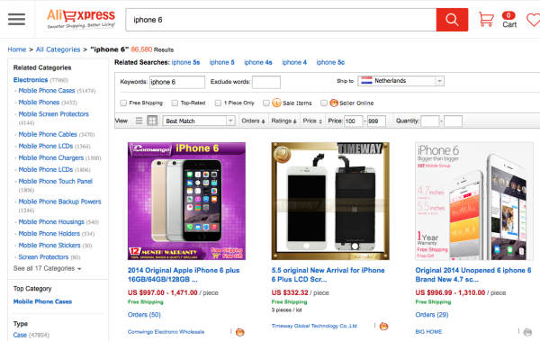 Buying Non-Chinese brands in China - iPhone 6