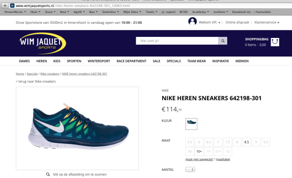 Buying Non-Chinese brands in China - nike euro