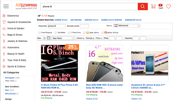 Buying Non-Chinese brands in China - Phone i6