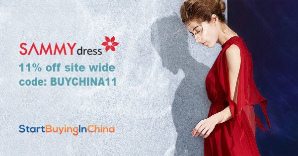 sammydress 11% off coupon code BUYCHINA11