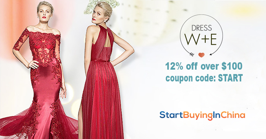 Get 12% off above $100 at DressWe with Coupon code: START