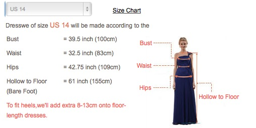 dress we reviews- sizes