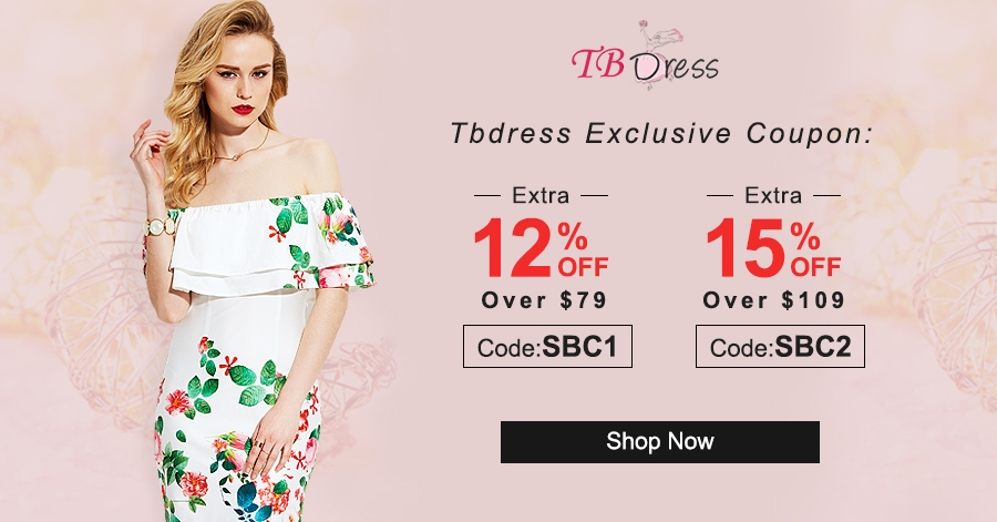 15% off over $109 at TBdress